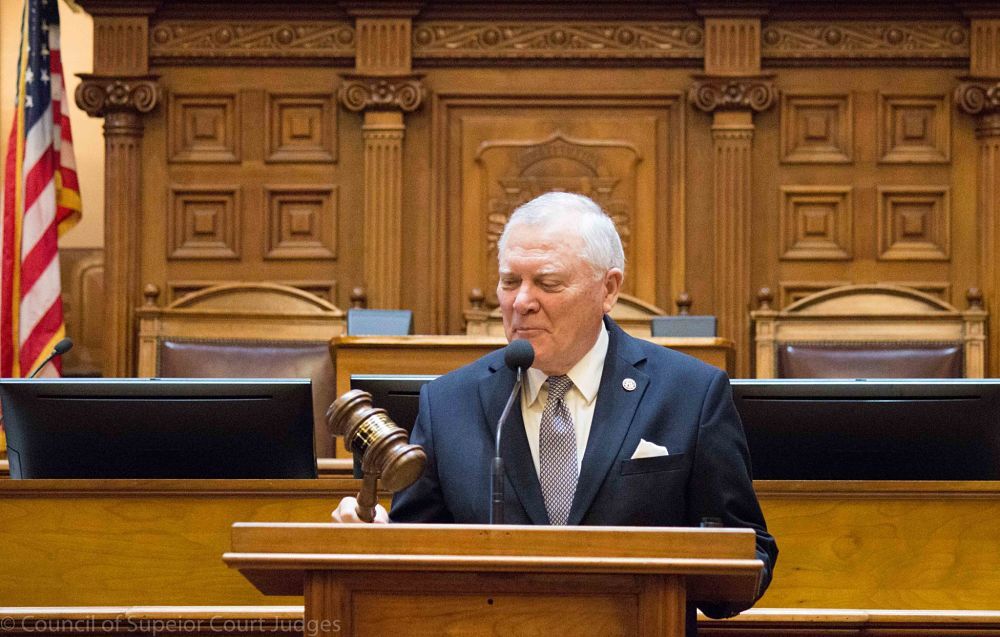 Gov. Nathan Deal was honored at the last swearing in of his term
