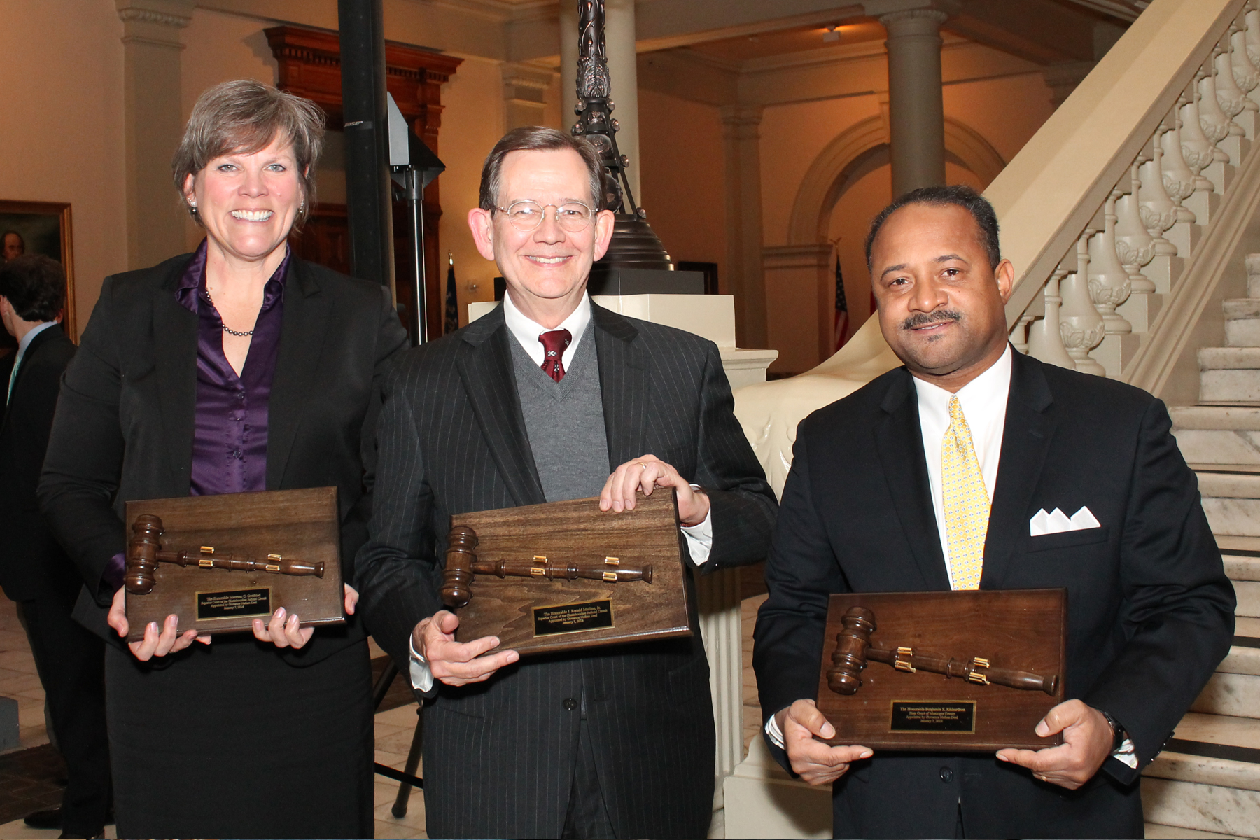 Judge Maureen Gottfried, Judge Ron Mullins, and Judge Benjamin Richardson
