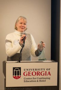 Judge Doris Downs, recipient of the 8th Annual Emory Findley Award